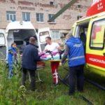 Мужчину с серьезными ожогами вертолетом доставили из Гатчины в Токсово