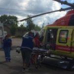 Вертолет санавиации вылетал в Тосно за мужчиной с травмированной головой